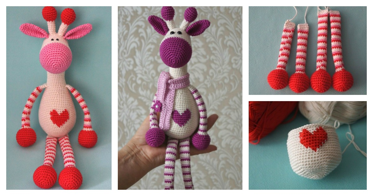 Adorable Crochet Hearty Giraffe Amigurumi Free Pattern Cool
