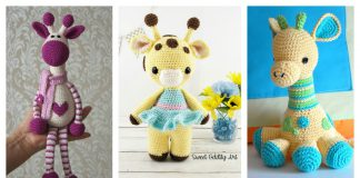 Crochet Adorable Hearty Giraffe Free Pattern