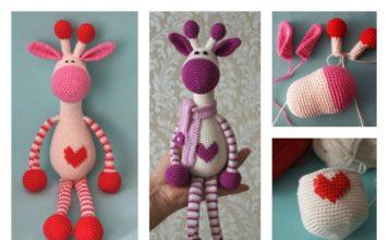 Crochet Hearty Giraffe Amigurumi Free Pattern