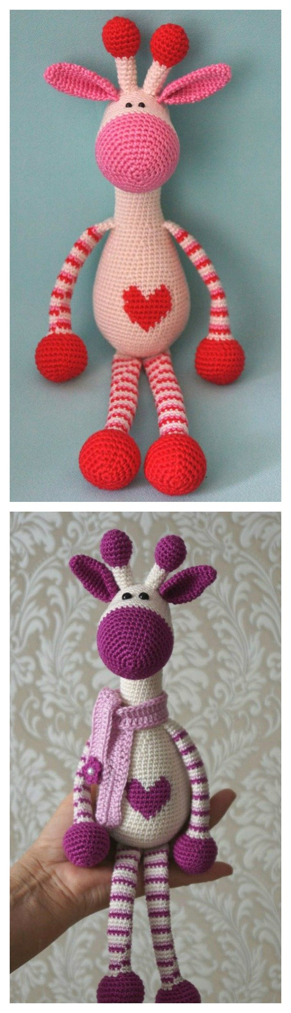 Amigurumi Giraffe Pattern Free : Adorable crochet hearty giraffe amigurumi free pattern