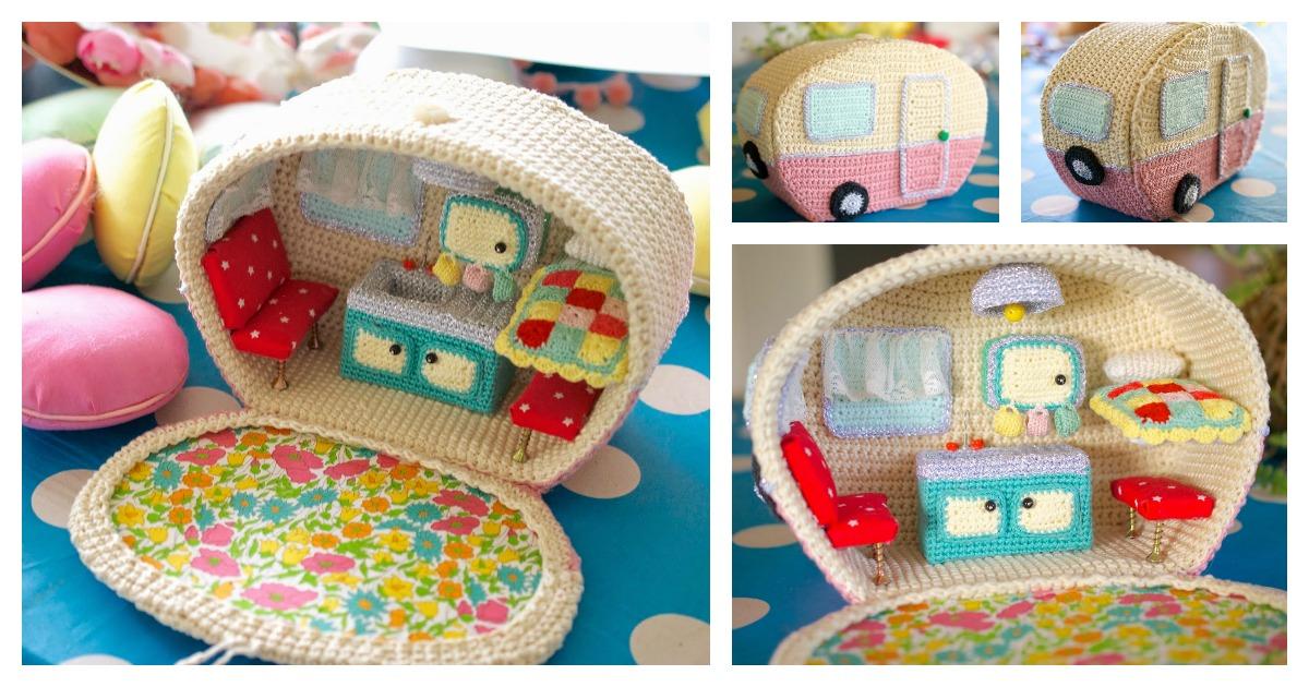 Amazing Crochet Mini Caravan Free Pattern