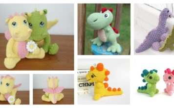 Crochet Amigurumi Dinosaur Free Patterns
