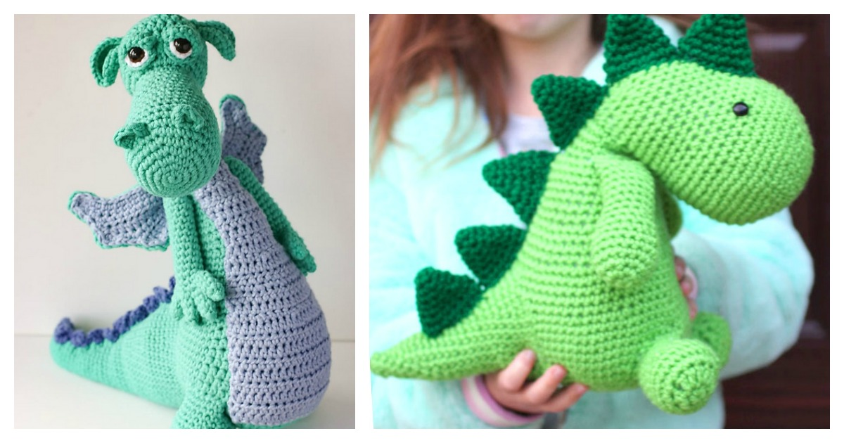 Dinosaur Crochet Patterns – For Your Dino Lover - A More Crafty Life   630x1200