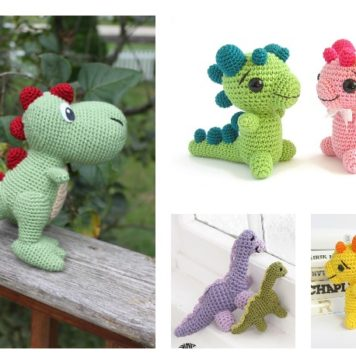 Mini Dinosaur Knitting Pattern : Crochet Archives - Page 21 of 26 - Cool Creativities