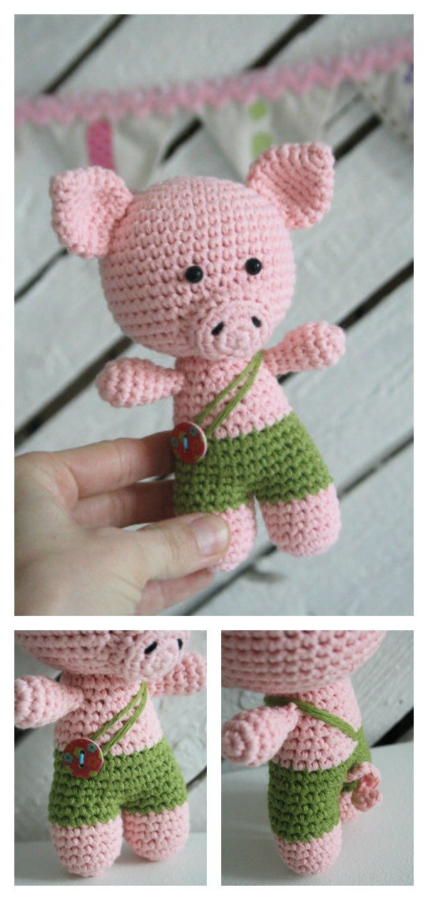 Crochet Amigurumi Little Pig Free Pattern