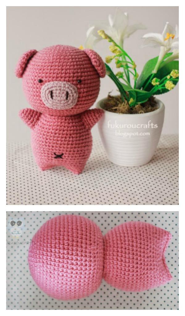 Amigurumi Doll Free Pattern : Crochet Amigurumi Pig Free Patterns