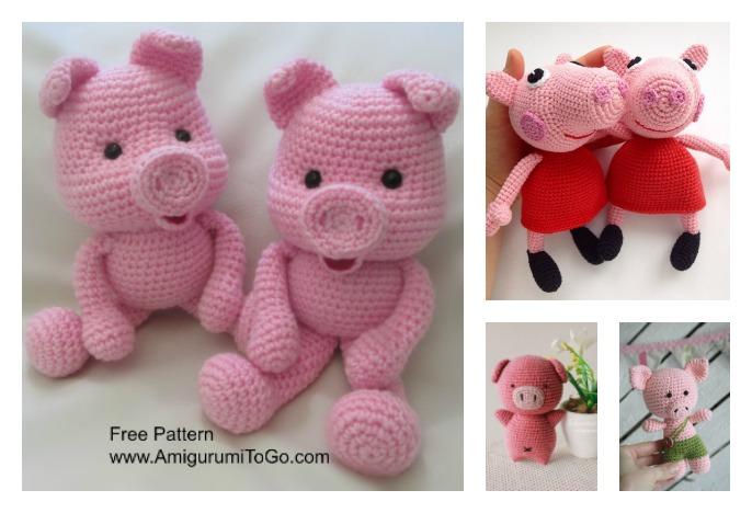 Cube Piggy Pig Amigurumi Pattern | 468x686