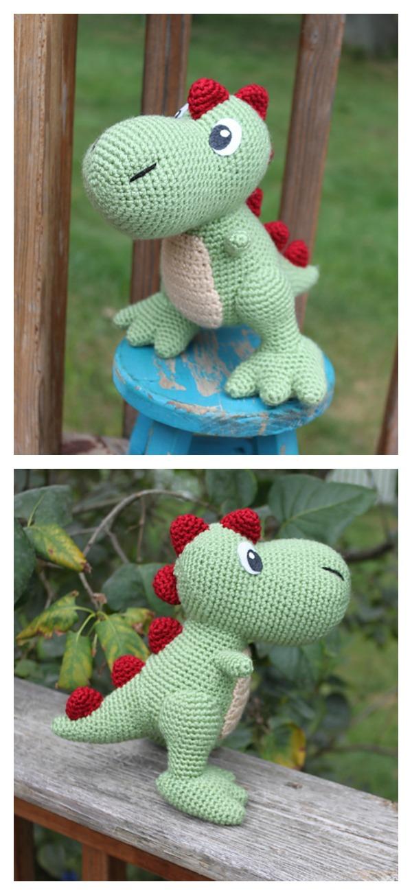 Amigurumi Dinosaur Pattern Free : Crochet Amigurumi Dinosaur Free Patterns