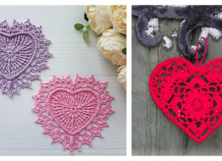 Crochet Lovely Heart Doilies Free Patterns Great for Valentine's Day