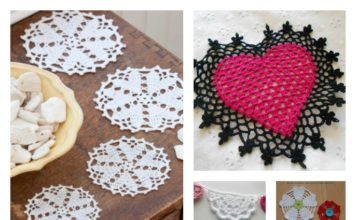 Crochet Heart Doilies Free Patterns