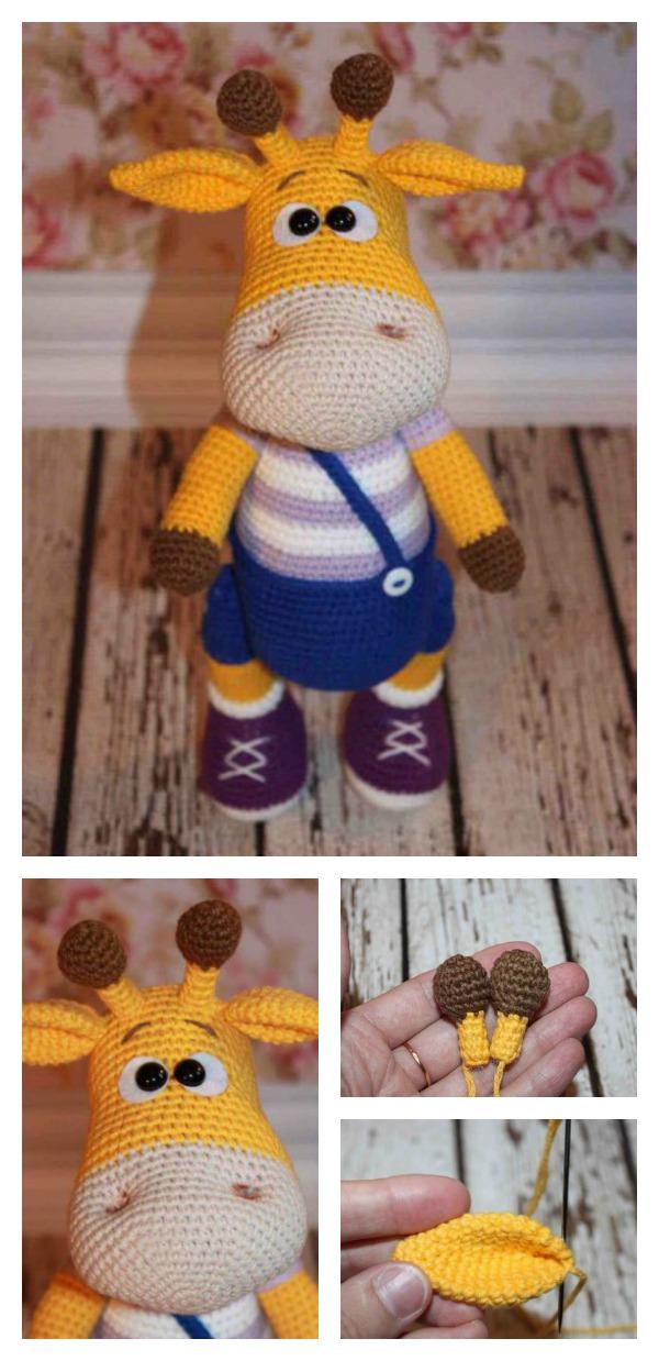 Crochet Naughty Giraffe Amigurumi Free Pattern