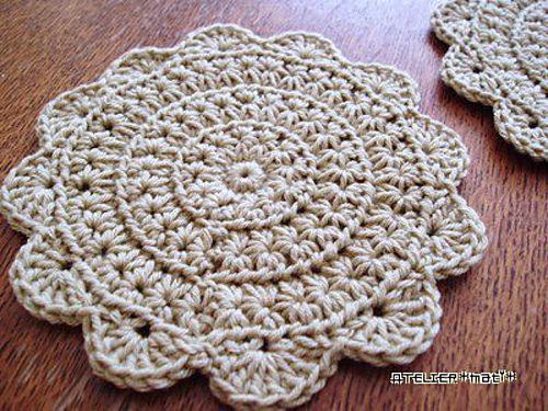Crochet Star Stitch Coaster Free Pattern Cool Creativities