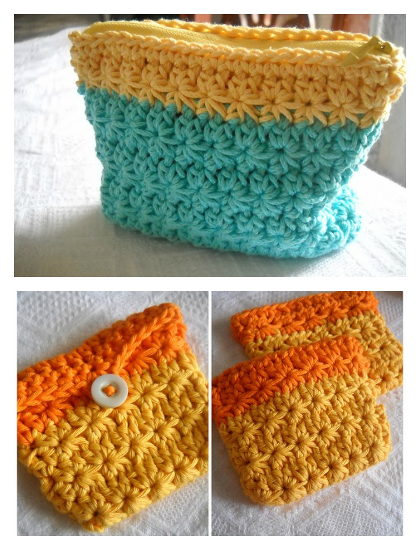 Crochet Star Stitch Coin Purse Free Pattern Cool Creativities