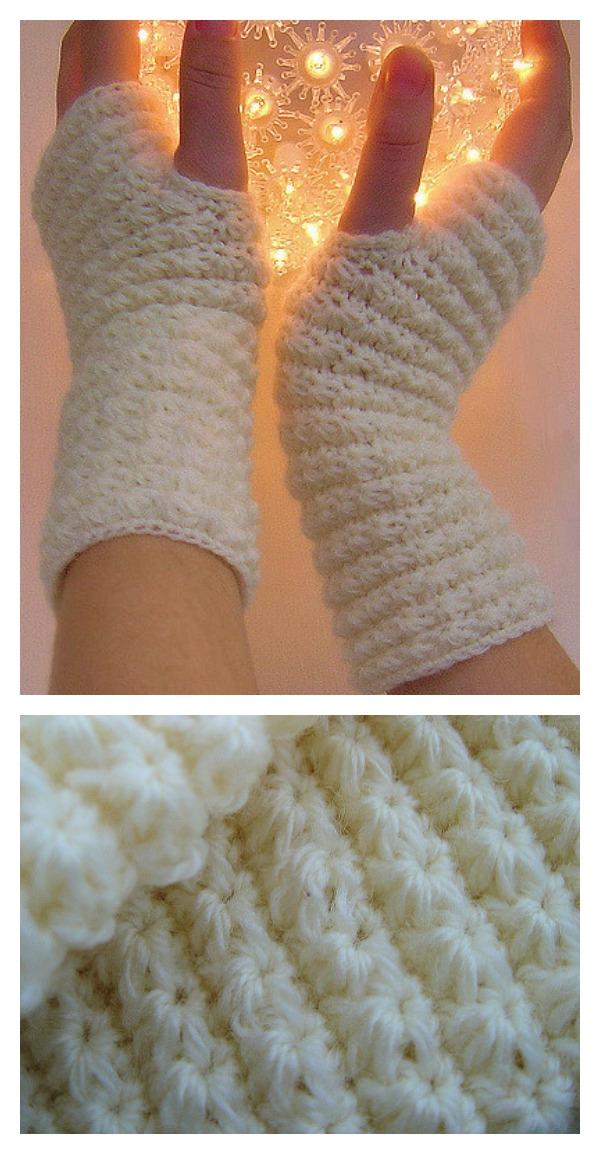 Crochet Star Stitch Hand Warmers Free Pattern Cool Creativities