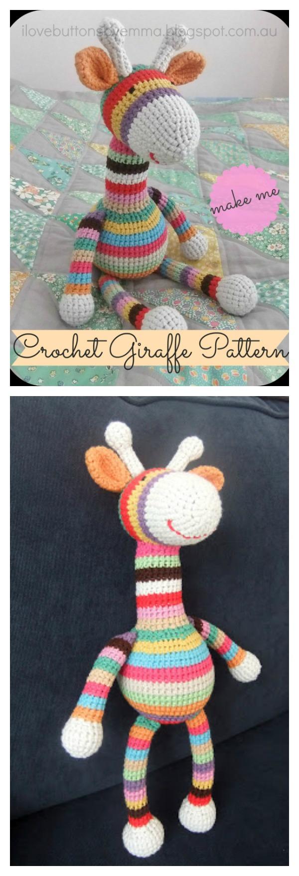 Crochet Stripy Giraffe Free Pattern