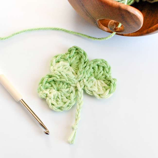 Easy Shamrock Crochet Free Pattern