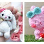 Pretty Bunny amigurumi in pink dress - Amigurumi Today | 150x150