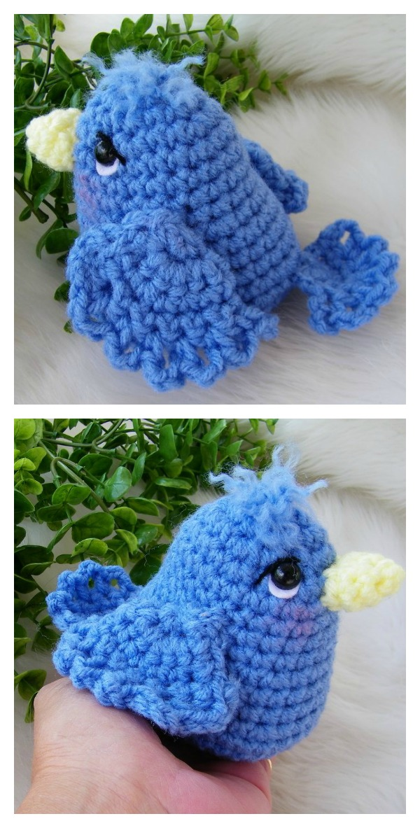 Free Simply Cute Blue Bird Amigurumi Crochet Pattern
