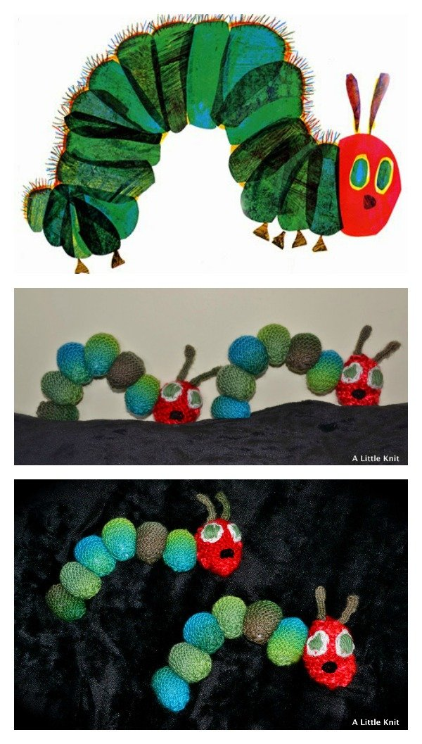 Knitted Caterpillar Baby Toy Free Patterns
