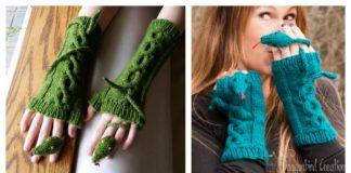 Knitting Fingerless Snake Mitts Patterns