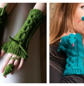Knitting Fingerless Snake Mitts Patterns