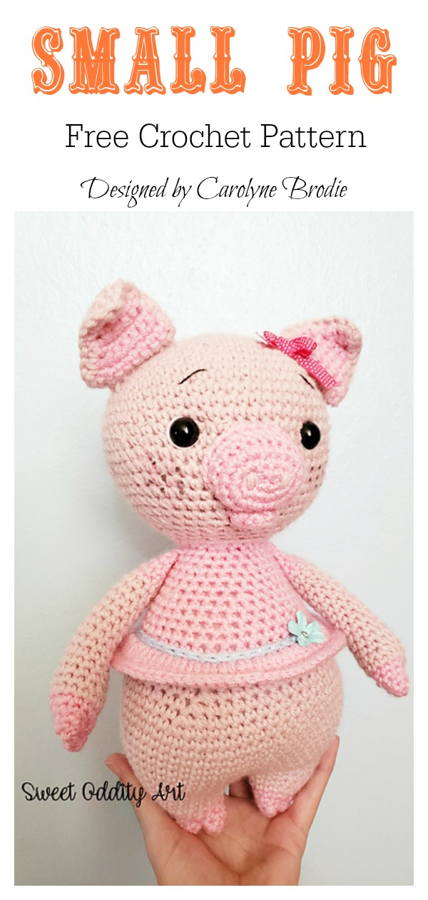 Amigurumi sweet pig free crochet pattern - YouTube | 1261x600