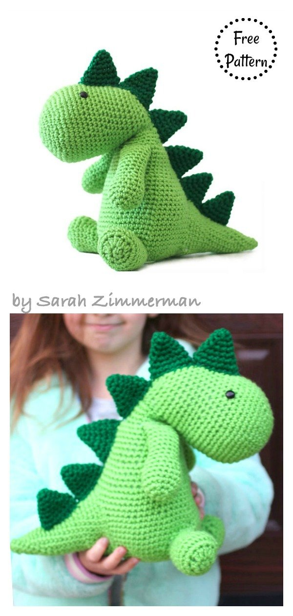 Baby Knitting Patterns Amigurumi Dinosaur Free Pattern... | 1260x600