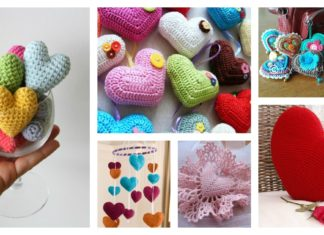 Valentine's Day Crochet 3D Heart FREE Patterns