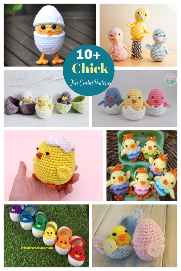 10+ Adorable Free Chick Crochet Patterns