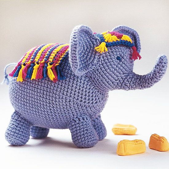 Adorable Crochet Elephant Amigurumi Free Pattern