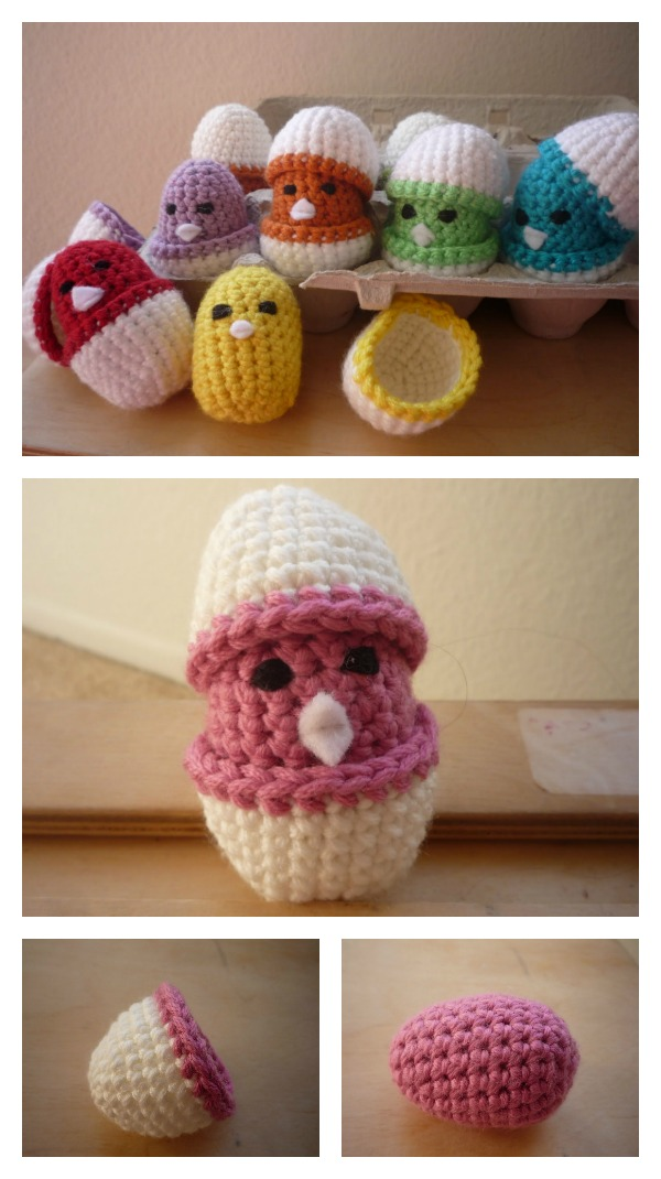 Baby Chicks in Eggshell Free Crochet Pattern