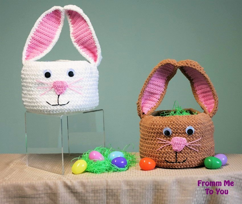 Bunny Easter Basket Free Crochet Pattern Cool Creativities