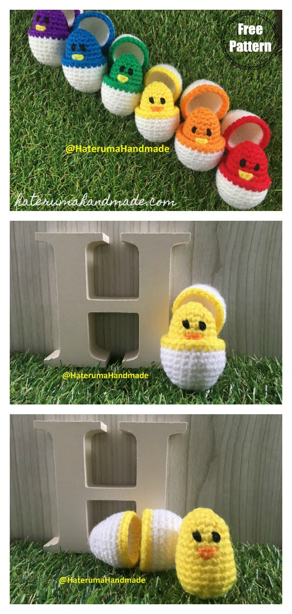 Color Match Eggs Baby Toy Free Crochet Pattern
