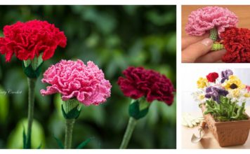 Crochet Carnation Flower Patterns for Mother's Day