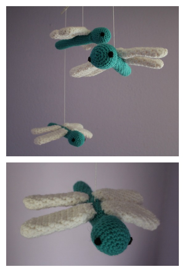 Crochet Dragonfly Mobile Free Pattern