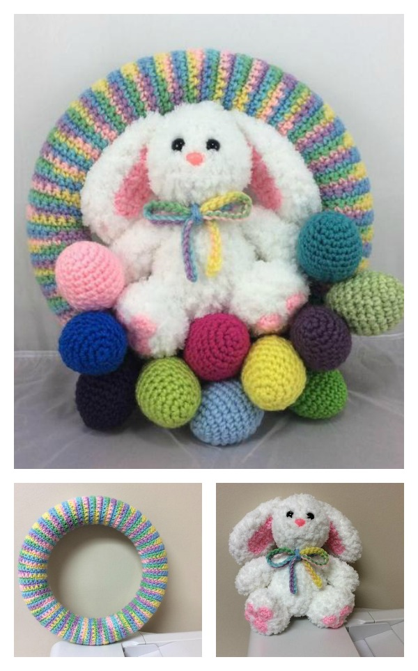 Crochet Easter Bunny Wreath Pattern