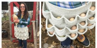 Crochet Egg Gathering Apron Free Pattern