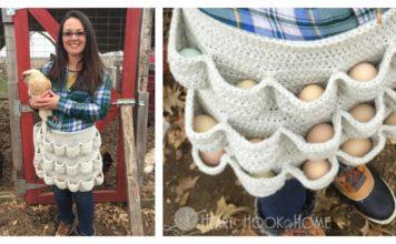 Crochet Egg Gathering Apron Free Pattern