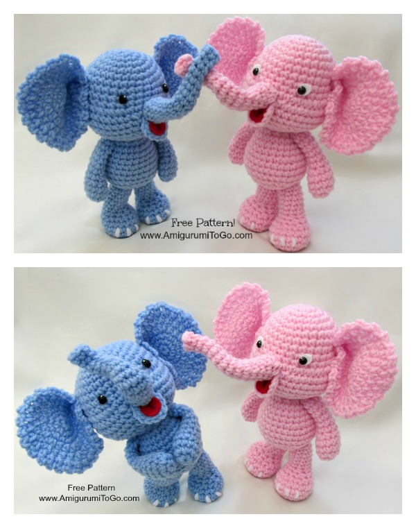 Crochet Little Bigfoot Elephant Video Tutorial and Free Pattern