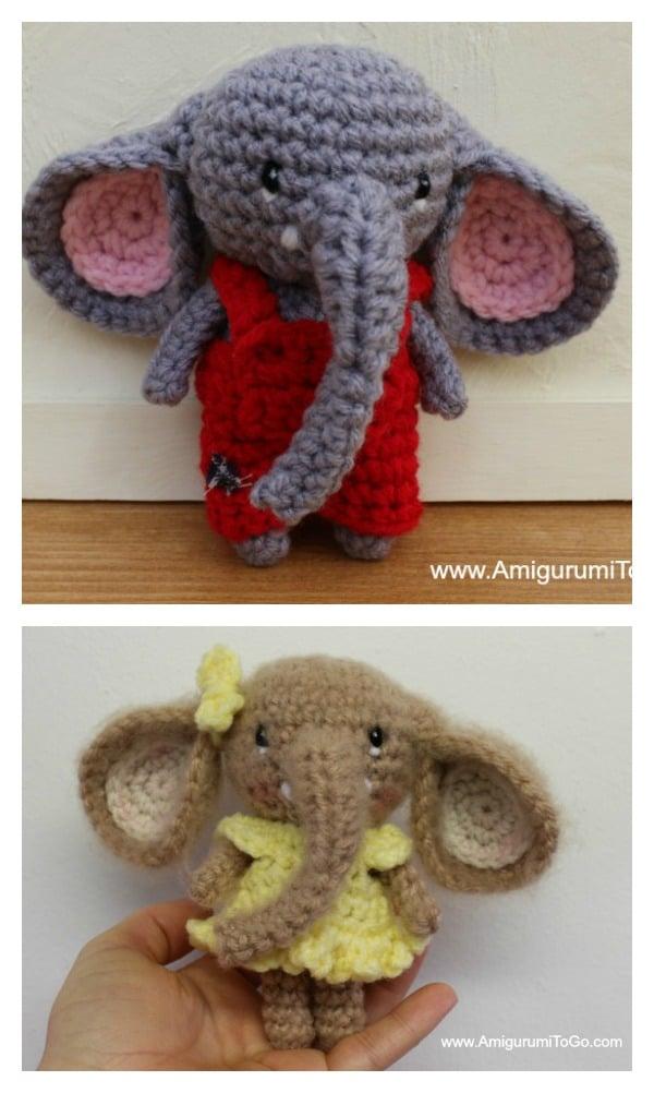 Crochet Little Bitty Elephants Amigurumi Free Pattern