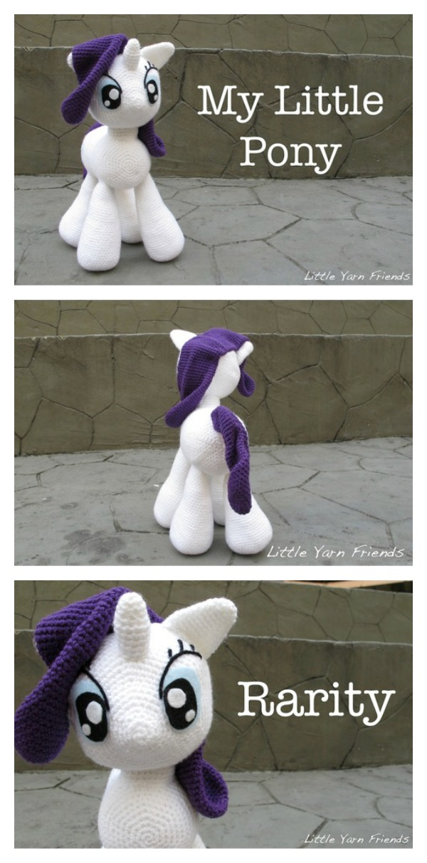 Crochet My Little Pony - Rarity Free Pattern