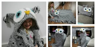 Crochet Hooded Owl Blanket Patterns