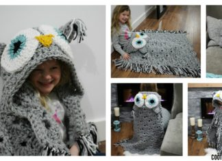 Crochet Hooded Owl Blanket Patterns