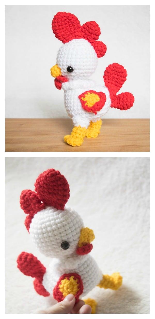 Crochet Rooster Amigurumi Pattern