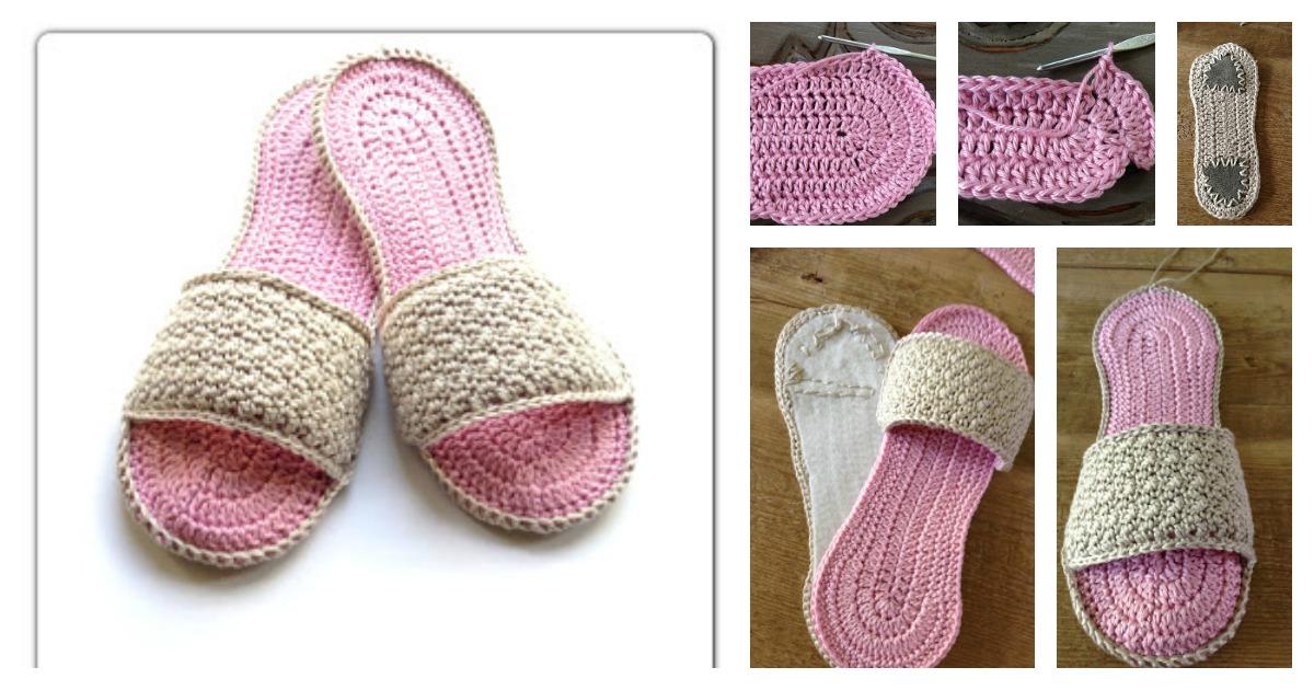 Crochet Spa Slippers Free Patterns