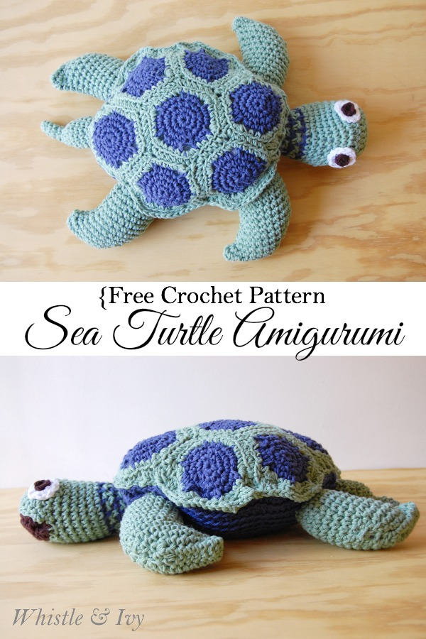 Crochet Sea Turtle Amigurumi Free Pattern