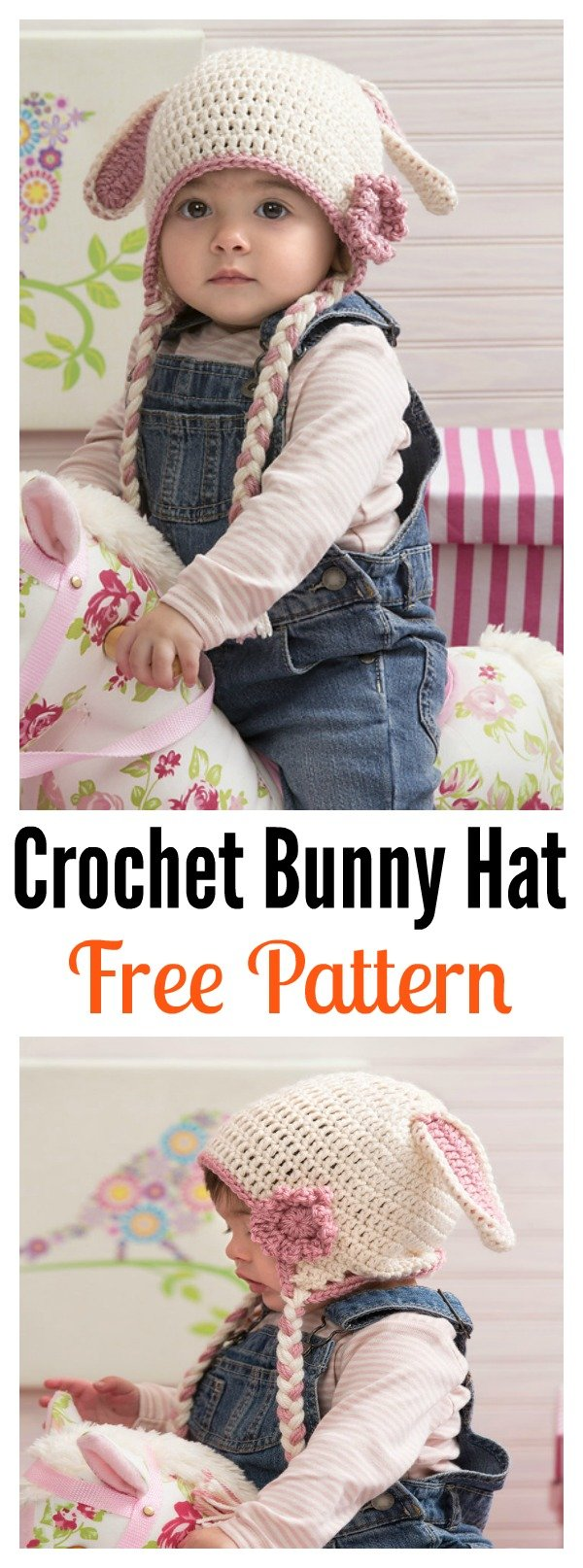 Crochet Sweet Bunny Hat Free Pattern