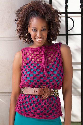 Crochet Trendy Top Overlay Free Pattern