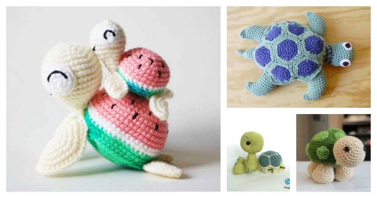 Crochet turtle amigurumi free patterns dt1010fo
