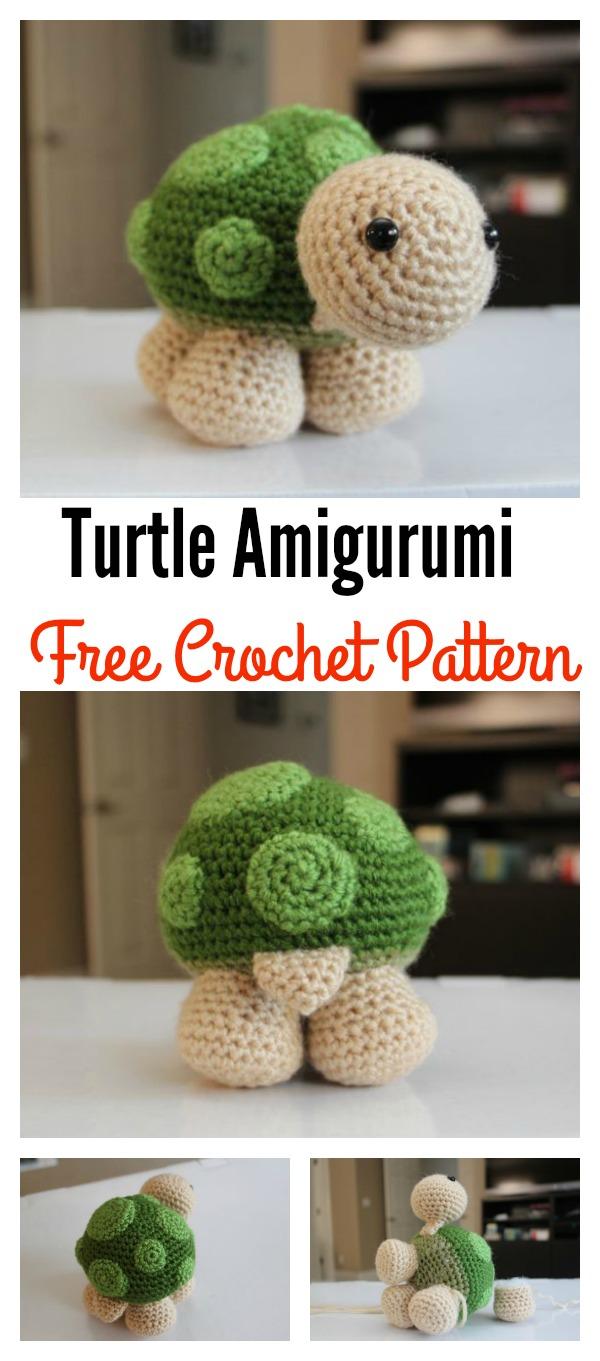 Crochet Turtle Toy Amigurumi Free Pattern